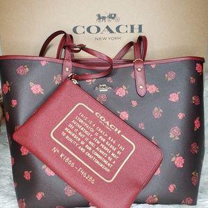 Coach Bags - Reversible Coach Tote w/ Peony Print